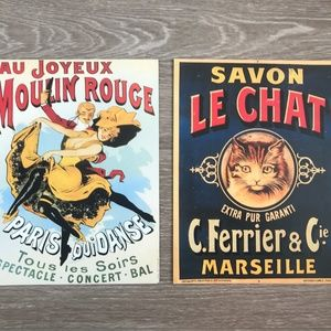 Set of 2 Vintage French Poster Prints